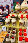 Stock photo of maple syrup products and bottles on display at a stall at the Byward Market in Ottawa, Ontario, Canada.