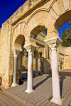 Arches and columns of Edificio Basilical Superior Medina Azahara Province of Cordoba Andalusia