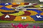 Stock photo of the Niagara Parks Floral Clock along the Niagara River Parkway, Queenston, Ontario, Canada.
