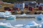 Stock photo of Packed Ice in Conche Harbour, Conche, French Shore, Northern Peninsula, Great Northern Peninsula, Viking Trail, Newfoundland, Canada.
