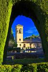 Stock photo of the Parador de San Francisco (hotel), formerly the Monastery of St. Francis, The Alhambra (La Alhambra) - designated a UNESCO World Heritage Site, City of Granada, Province of Granada, Andalusia (Andalucia), Spain, Europe.
