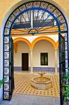 Stock photo of Entrance to a courtyard in the Reales Alcazares (Royal Palace) - a UNESCO World Heritage Site, Santa Cruz District, City of Sevilla (Seville), Province of Sevilla, Andalusia (Andalucia), Spain, Europe.