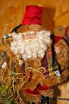 Stock photo of a Santa Claus ornament at the Christmas Markets at the Hexenagger Castle, Hexenagger, Bavaria, Germany, Europe.