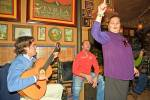 Stock photo of singing performance at a Flamenco Restaurant/Bar in the Triana District in the City of Sevilla (Seville), Province of Sevilla, Andalusia (Andalucia), Spain, Europe.
