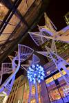 Sculpture trees light cluster Stephen Avenue Mall City of Calgary Alberta Canada