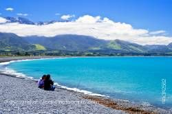 People Kaikoura Beach Kaikoura East Coast South Island New Zealand