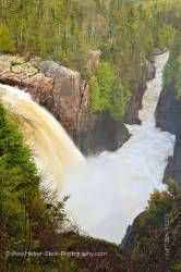 Aguasabon Falls Near Terrace Bay During Spring Flood Lake Superior Ontario Canada