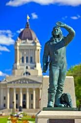 Airman Statue outside the Manitoba Legislative Building City of Winnipeg Canada