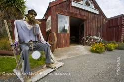 Funny Nicols' Blacksmith Shop bearded man in Duntroon Waitaki Valley North Otago New Zealand