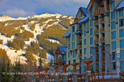 Blackcomb Mountain Pan Pacific Hotel Village Stroll Whistler Village British Columbia Canada
