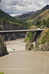 Bungee jumper Waiau Ferry Bridge Waiau River Thrill Seekers Canyon Hanmer Springs South Island