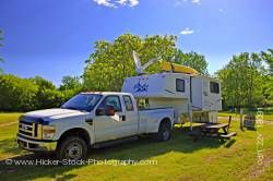 Camper at the Conestoga Campground City of Winnipeg Manitoba Canada