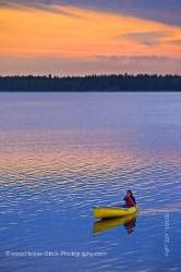 Canoeing Lake Audy Riding Mountain National Park Manitoba