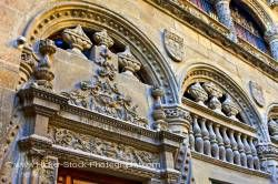 Entrance details to Capilla Real y Museo in City of Granada Province of Granada Andalusia Spain