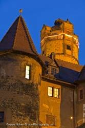 Towers architecture Burg Ronneburg Castle Hessen Germany