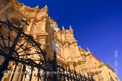 Facade of Cathedral of Guadix in town of Guadix Province of Granada Andalusia Spain