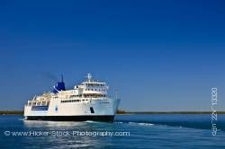 Chi-Cheemaun ferry boat Bruce Peninsula for Manitoulin Island in Lake Huron Ontario Canada