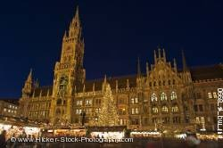 Christkindlmarkt Christmas Markets Marienplatz dusk Munich Germany