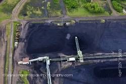 Aerial picture Coal Pit Lake Superior City of Thunder Bay Ontario Canada