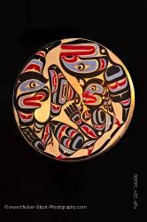 Native Art Wooden Drum First Nations Native Art  Northern Vancouver Island British Columbia
