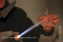 Glass blowing Christmas markets Michelstadt Hessen Germany Europe
