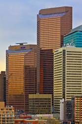 City Of Calgary Modern Geometric Commercial High Rise Buildings Alberta Canada