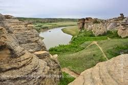 Milk River Hoodoos Writing on Stone Alberta Canada
