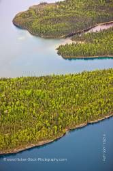 Aerial View of Islands and Forest Lake Superior Flight From Thunder Bay Ontario Canada