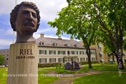 Louis A Riel Monument at Saint Boniface Museum Winnipeg Manitoba Canada