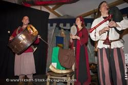 Medieval musical band medieval feast at Schloss Auerbach Germany