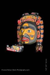 Sisutil and Warrior Mask Namgis First Nations Art Northern Vancouver Island British Columbia Canada