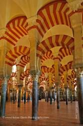 Naves of the Mezquita City of Cordoba Province of Cordoba Andalusia Spain