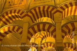 Naves of Almansur Mezquita City of Cordoba Province of Cordoba Andalusia Spain