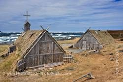 Huts Norstead Viking Site Great Northern Peninsula Newfoundland Canada