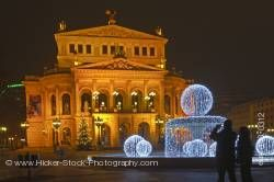 Old Opera House Alte Oper at night Frankfurt Hessen Germany Europe