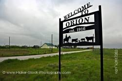 Welcome sign Town of Orion South East Alberta Alberta Canada