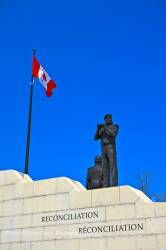 Reconciliation Peacekeeping Monument and Canadian Flag Ottawa