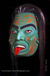 Otter Woman Mask Sean Whonnock Native American Art Vancouver Island British Columbia Canada