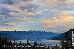 Clouds Slocan Lake sunset Valhalla Provincial Park BC