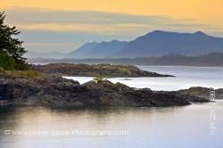 South Beach After Sunset Pacific Rim National Park Vancouver Island British Columbia Canada