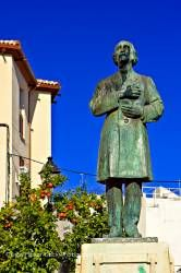 Statue in Plaza San Juan in district of San Juan City of Jaen Province of Jaen Andalusia Spain