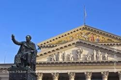 Statue monument King Maximilian 1st of Bavaria in Max-Joseph-Platz Nationaltheater Munchen