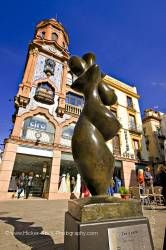 Statue Plaza de Jesus de la Pasion Santa Cruz District City of Sevilla Spain