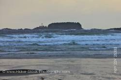Cox Bay Beach Stormy Waves Pacific Ocean Lennard Island Lighthouse Vancouver Island