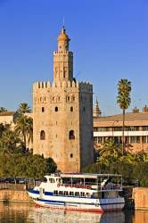 Torre del Oro El Arenal District City of Sevilla Province of Sevilla Andalusia Spain Europe