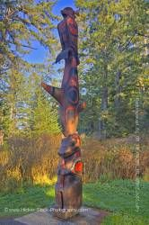 Totem Pole South Beach Trail Wickaninnish Bay West Coast Vancouver Island British Columbia Canada