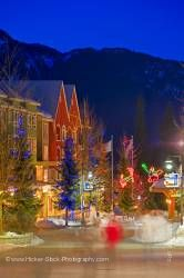 Village Stroll Dusk Winter Whistler Village British Columbia Canada