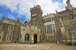 Stock photo of the exterior of the Casa Loma castle in the city of Toronto, Ontario.