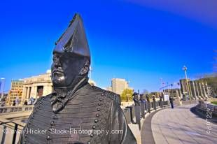 Stock photo of the Valiants Memorial Statue of Lieutenant Colonel Charles Michael d'Irumberry de Salaberry in Ottawa, Ontario, Canada.
