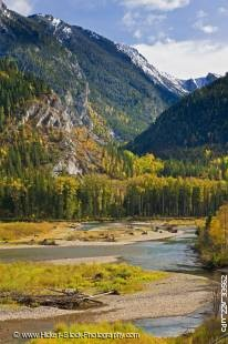 Stock photo of Elk River and the Mount Broadwood Heritage Conservation Area, East Kootenay, British Columbia, Canada.